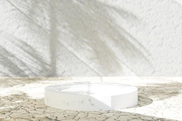 Podium rond en marbre