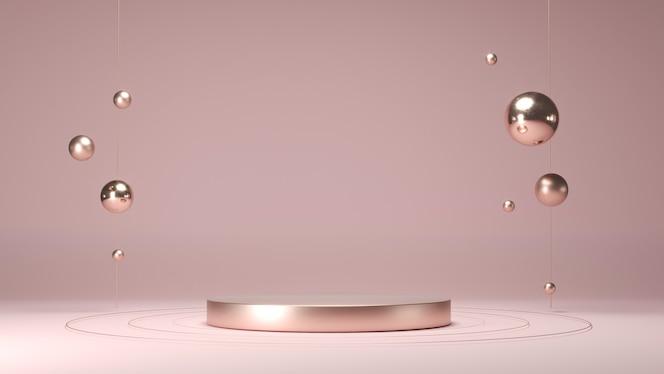 Podium rond pour la présentation des produits. socle vide abstrait, plate-forme pour l'affichage des produits.