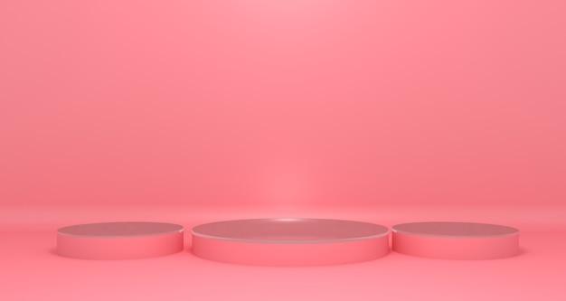 Podium rose pour l'affichage des produits