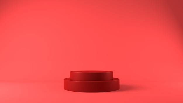 Podium rouge pour le placement de produit sur le thème de noël