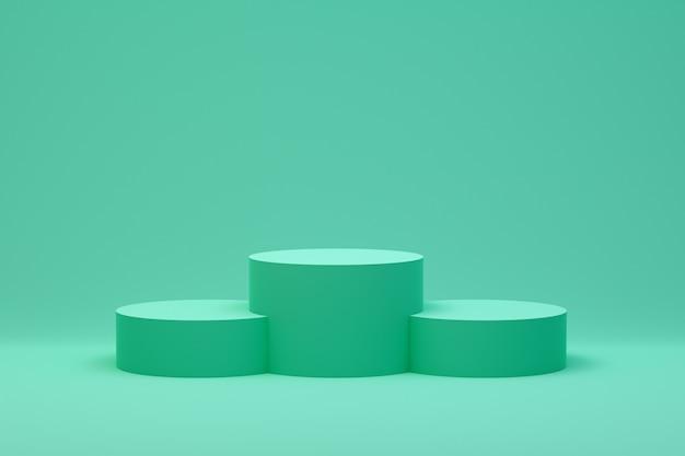 Podium vert abstrait minimal pour la présentation du produit