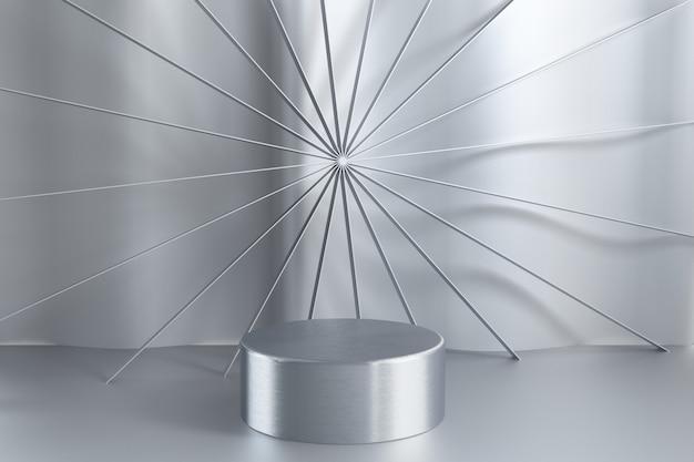 Podium vide de fond abstrait 3d, piédestal, scène