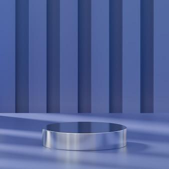 Podium violet stand abstrait pour le placement de produit rendu 3d