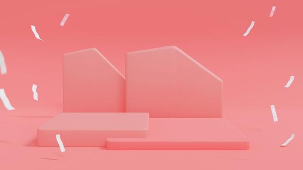 Podiums cubiques ou affichage. scène minimale abstraite avec géométrique. concevoir un espace vide.
