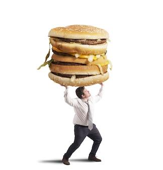 Poids de l'homme et du sandwich