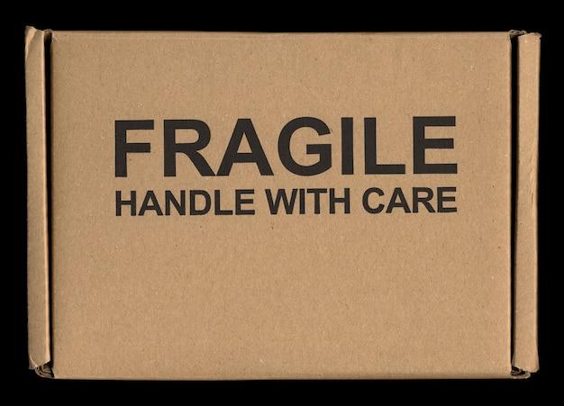 Poignée fragile avec étiquette d'entretien