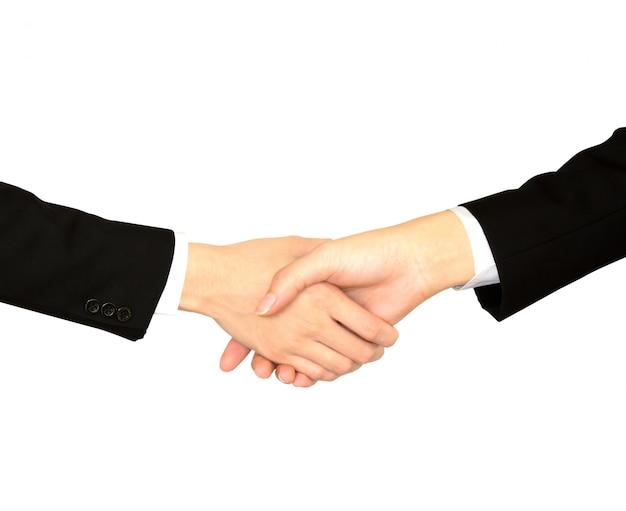 Poignée de main entre les cadres