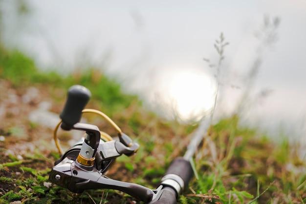 Poignée d'un moulinet de pêche