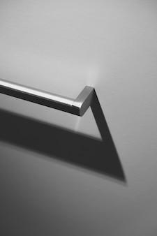 Poignée de tiroir métallique close-up