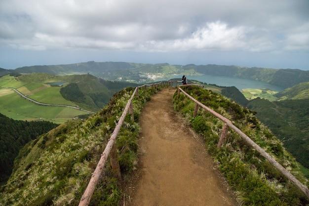 Point de vue de canario sur l'île de sao miguel, aux açores, au portugal.