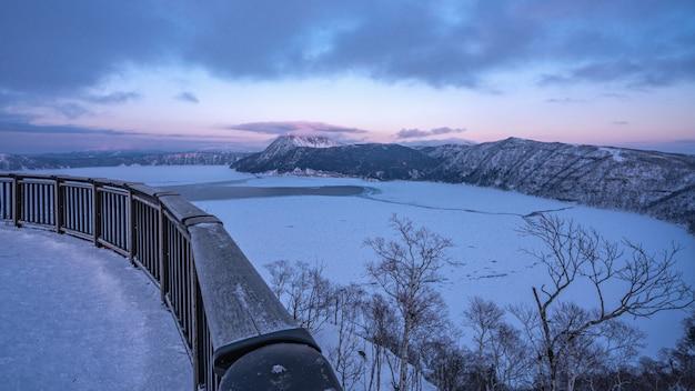 Point de vue naturel en hiver