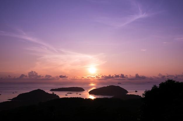 Point de vue de panwa au lever du soleil