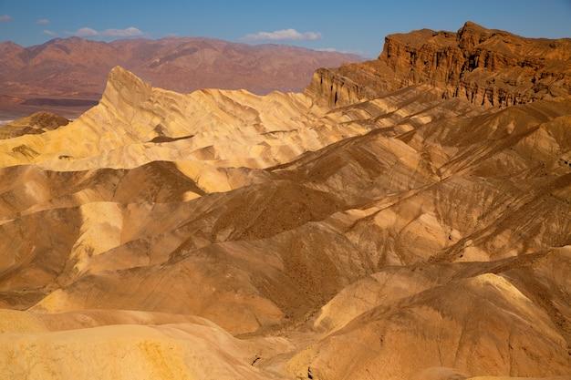 Point zabriskie, parc national, vallée mort, californie