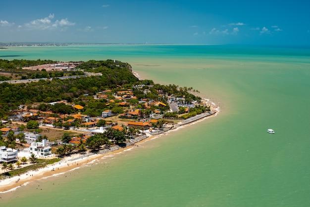 Pointe de la plage de seixas à joao pessoa paraiba brésil le 18 novembre 2007