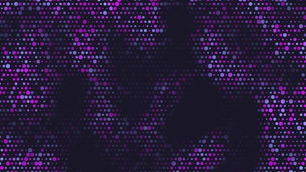 Points bleus et roses géométriques abstraits sur fond noir. style d'illustration 3d élégant et luxueux pour le modèle d'entreprise et d'entreprise