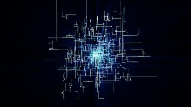 Points et lignes de connexion réseau