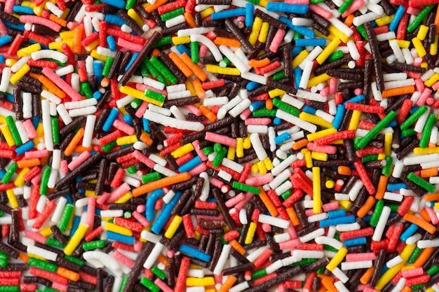 Points de saupoudrage de sucre, décoration pour gâteau et bekery, beaucoup de paillettes comme arrière-plan