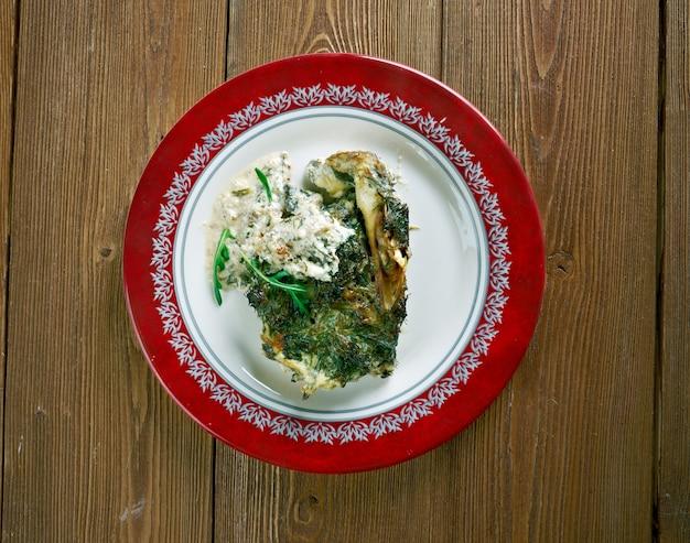 Poisson à la florentine - filets de morue au four à la florentine.