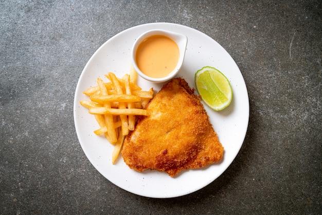 Poisson frit et frites