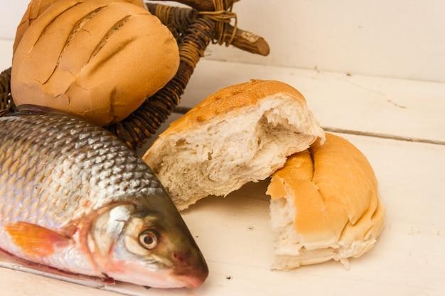 Poisson et pains