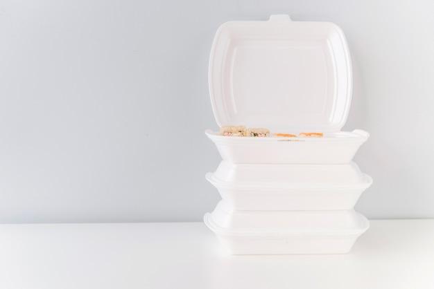 Poke bowls avec espace de copie
