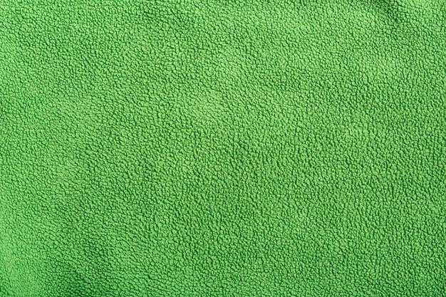 Polaire synthétique douce verte