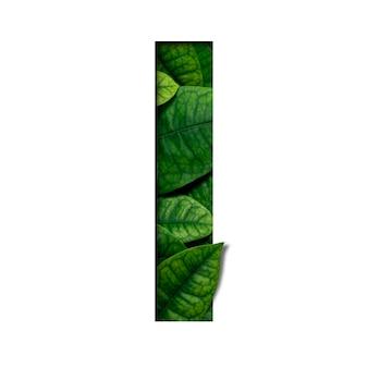 La police des feuilles que j'ai faite à partir de feuilles réelles et vivantes avec du papier precious découpé en forme de police. leafs police.