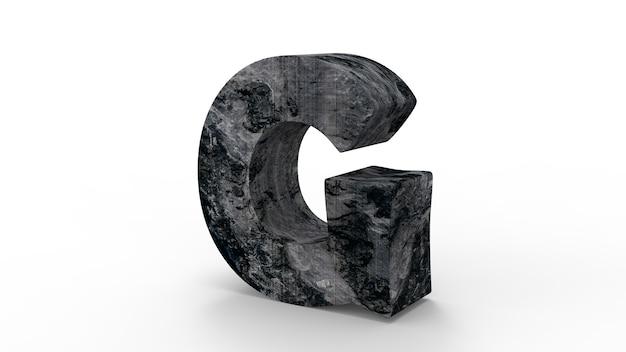 Police de g pour créer du mur de pierre isolé sur blanc