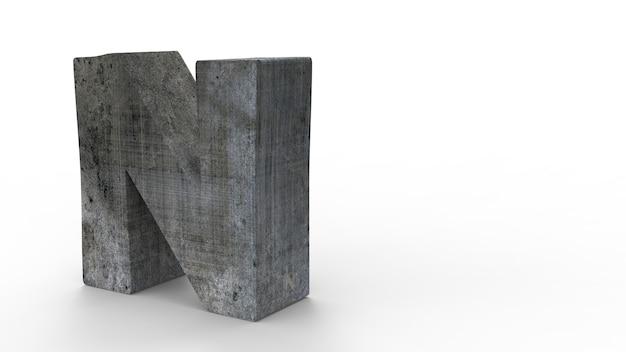Police de n pour créer du mur de pierre isolé sur blanc