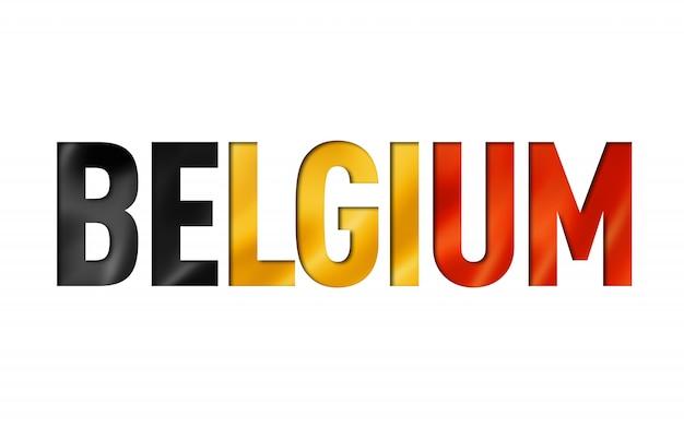 Police de texte du drapeau belge