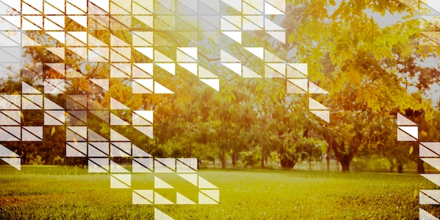 Polygone forme mosaïque conception abstraite concept transparent
