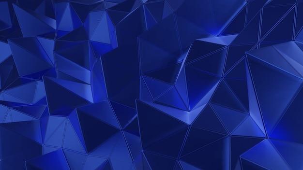 Polygone de rendu 3d couleur bleu foncé