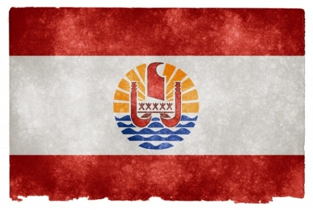 Polynésie française grunge flag