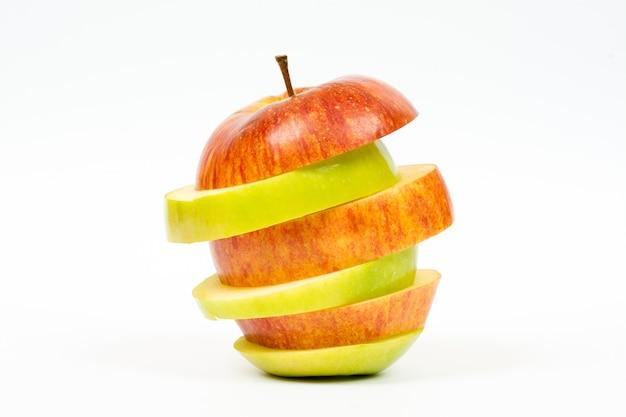 Pomme coupée en tranches