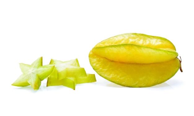 Pomme étoile sur fond blanc
