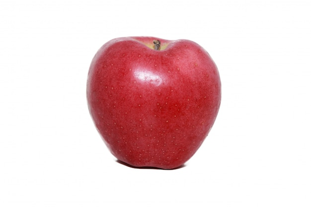 Pomme rouge en blanc