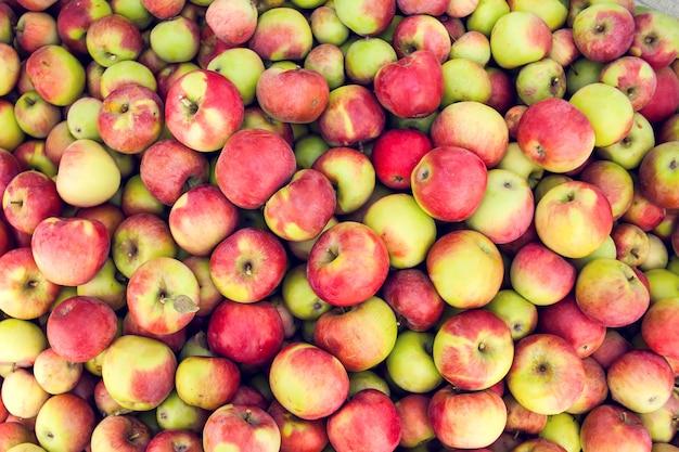 Pomme rouge fruits crus arrière-plans naturel sain