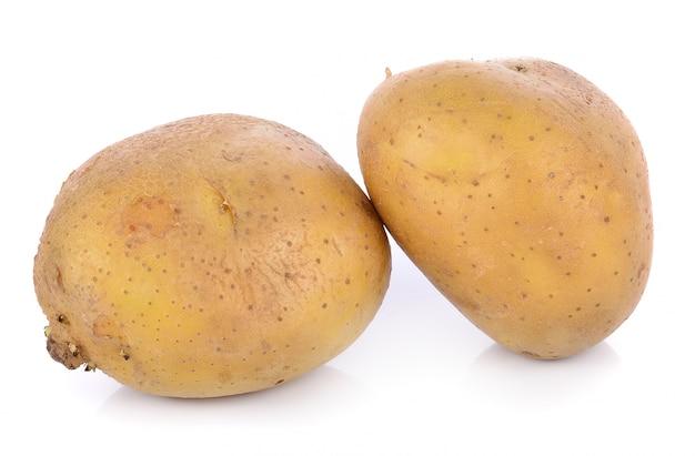 Pomme de terre sur blanc