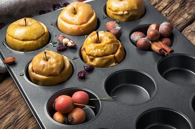 Pommes d'automne cuites
