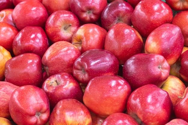 Pommes dans un supermarché