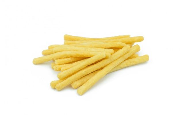 Pommes frites isolés sur fond blanc