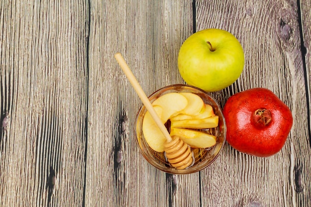 Pommes, grenade et miel pour roch hachana