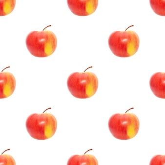 Pommes de modèle sans couture isolés sur fond blanc. photo de haute qualité