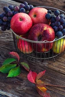 Pommes rouges d'automne