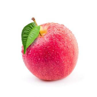 Pommes rouges isolés sur fond blanc