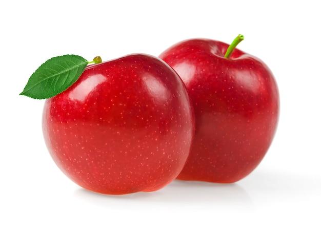 Pommes rouges isolés