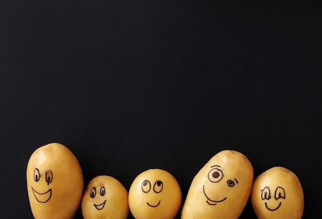 Pommes de terre drôles