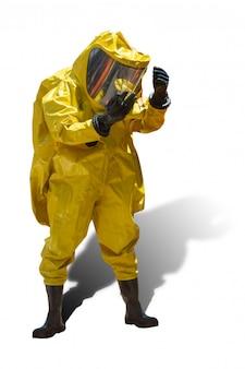Pompier et combinaison de protection contre les dangers