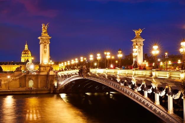 Pont alexandre iii à paris france sur la seine