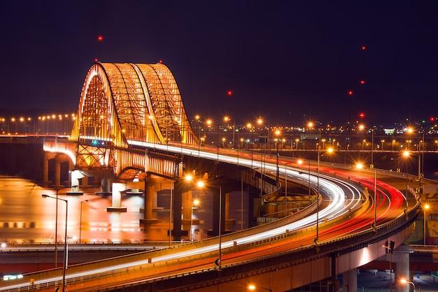Pont de banghwa la nuit, corée
